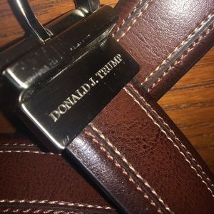Donald J Trump Leather Reversible Signature Belt